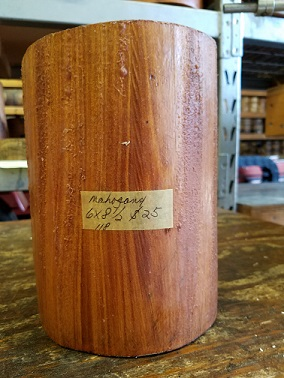 mahogany turning wood