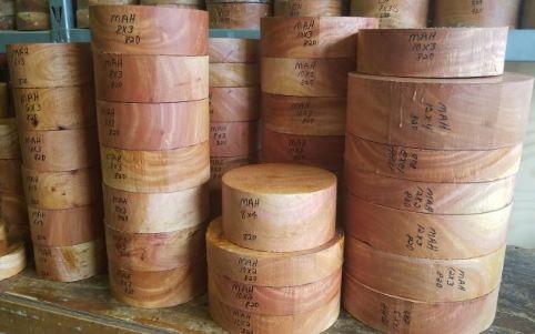 mahogany turning wood